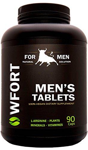 WFORT's 90 Potenzmittel für Männer | Potenz 100% Natürlich | Länger Lust + Liebe + Sperma + Testosteronspiegel | Leistungsstark & rezeptfrei 90 Kapseln