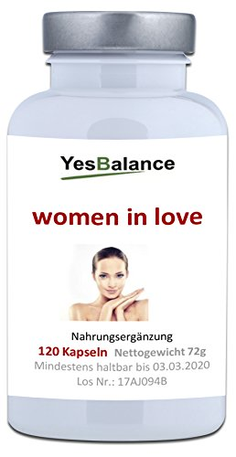 WOMEN IN LOVE - yesBalance | Wirkstoffe für die Frau | 120 Kapseln
