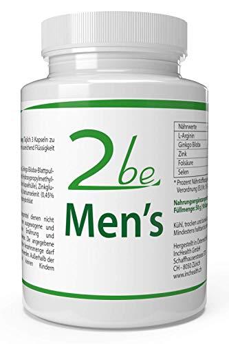 2be Men's + Fruchtbarkeit + Sperma + Leidenschaft = 90 Vegane Kapseln