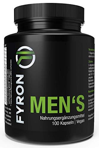 FYRON MENs + Sperma + Leistung + Testosteron + Spaß + 100 Kapseln